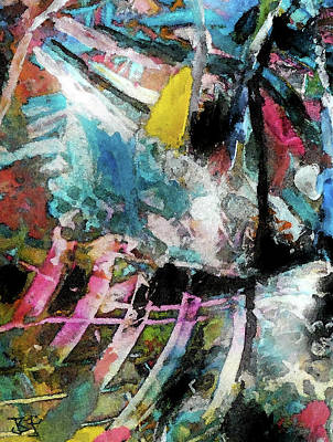 Painting - Abstract 301 - Detail by Jean Batzell Fitzgerald