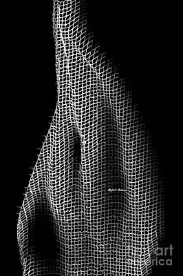 Digital Art - Abstract 3d Sculpture In Black And White by Rafael Salazar