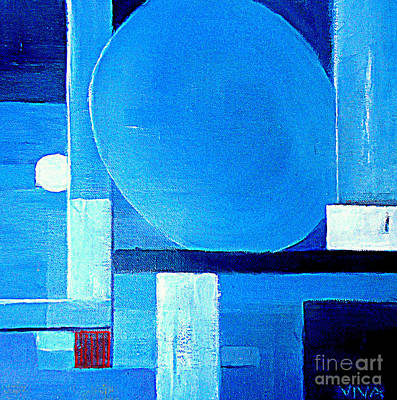 Painting - Abstract 4 Blue by VIVA Anderson
