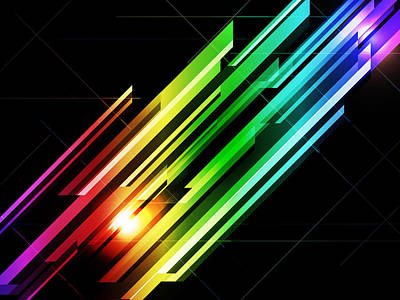 Rainbow Digital Art - Abstract 45 by Michael Tompsett