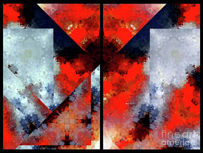 Digital Art - Abstract 475 476 Diptych by Rafael Salazar