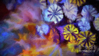 Digital Art - Abstract 48 Digital Oil Painting On Canvas Full Of Texture And Brig by Amy Cicconi