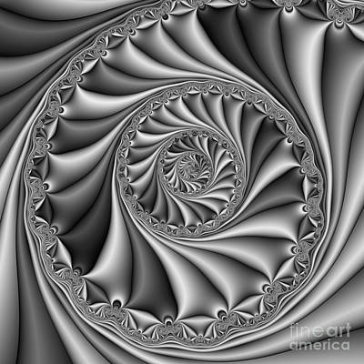 Abstract 508 Bw Print by Rolf Bertram