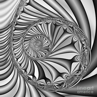 Abstract 527 Bw Print by Rolf Bertram