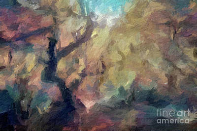 Digital Art - Abstract 56 Digital Oil Painting On Canvas Full Of Texture And Brig by Amy Cicconi