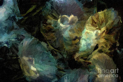 Digital Art - Abstract 62 Digital Oil Painting On Canvas Full Of Texture And Brig by Amy Cicconi
