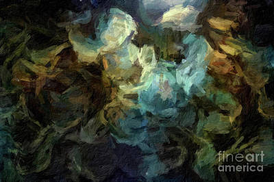 Digital Art - Abstract 63 Digital Oil Painting On Canvas Full Of Texture And Brig by Amy Cicconi
