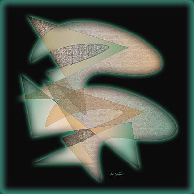 Abstract Design Drawing - Abstract 6660 by Iris Gelbart