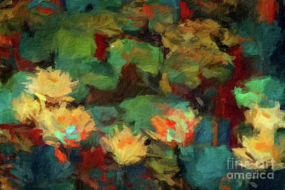 Digital Art - Abstract 70 Digital Oil Painting On Canvas Full Of Texture And Brig by Amy Cicconi