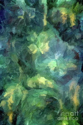 Digital Art - Abstract 73 Digital Oil Painting On Canvas Full Of Texture And Brig by Amy Cicconi