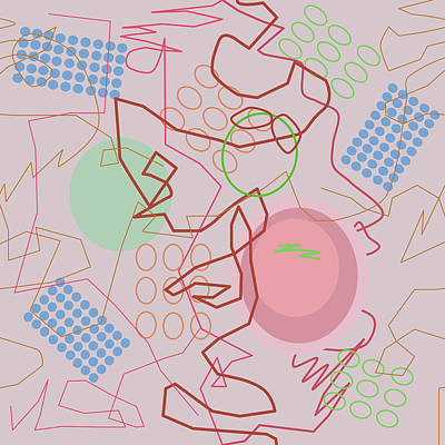 Digital Art - Abstract 8 Pink by April Burton