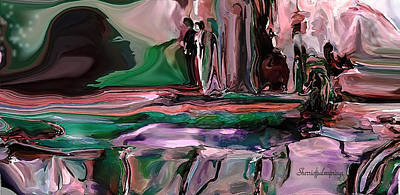 Digital Art - abstract A Time And A Different Place  by Sherri Of Palm Springs