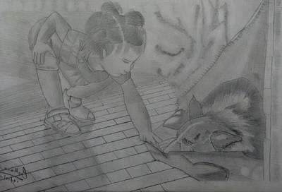 Pet Care Drawing - Abstract by Abhishek Gothania
