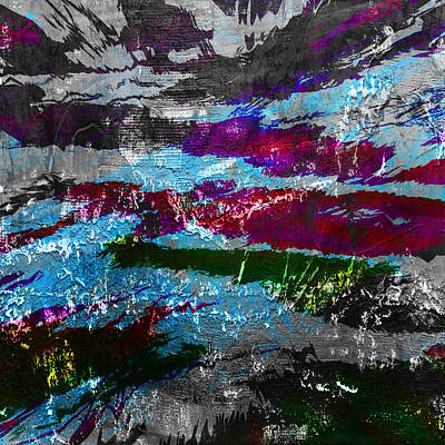 Abstract Seascape Digital Art - Abstract Abnormality by Filippo B