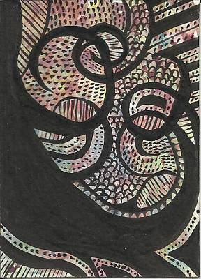 Abstract Aceo Card Original