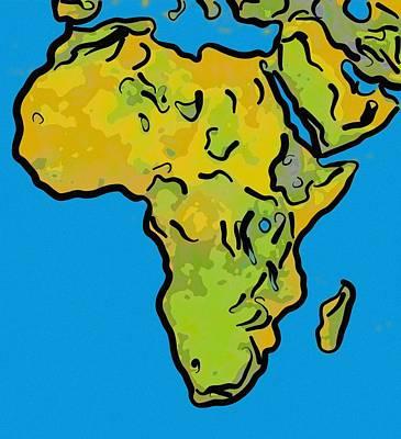 Abstract Africa Art Print