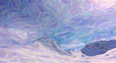 Butterfly Abstract Art Painting - abstract Alpine Landscape by Celestial Images