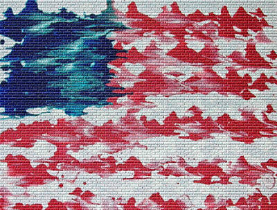 Abstract American Flag  Art Print by Brian Roberts