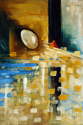 Painting - Abstract And A Pelican Egg by Suzanne McKee