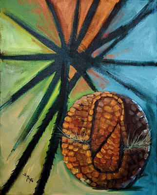 Painting - Abstract And The Armadillo by Suzanne McKee