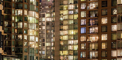Abstract Apartment Buildings Art Print