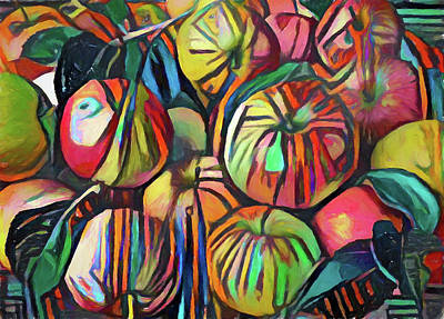 Digital Art - Abstract Apples by Yury Malkov