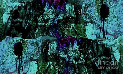 Abstract Aqua Original