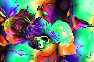 Abstract-aqua Mood Art Print by Patricia Motley