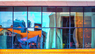 Photograph - Abstract Architectural Reflection by Frances Ann Hattier