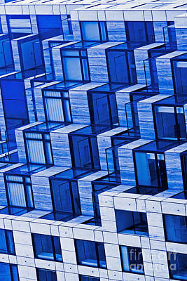 Abstract Architecture In Blue Art Print by Mark Hendrickson