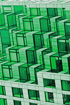 Abstract Architecture In Green Art Print by Mark Hendrickson