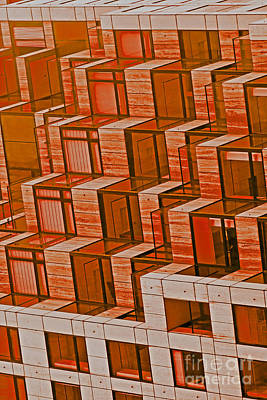 Abstract Architecture In Red Art Print by Mark Hendrickson