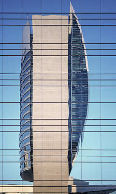 Photograph - Abstract Architecture - National Bank Of Dubai by Shankar Adiseshan