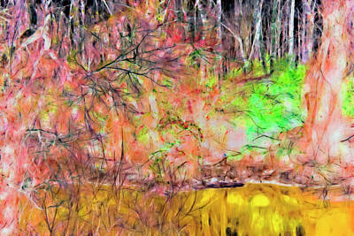Photograph - Abstract Arkansas Bayou by Gina O'Brien