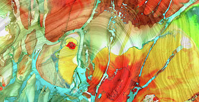 Painting - Abstract Art - A Strong Finish - Sharon Cummings by Sharon Cummings