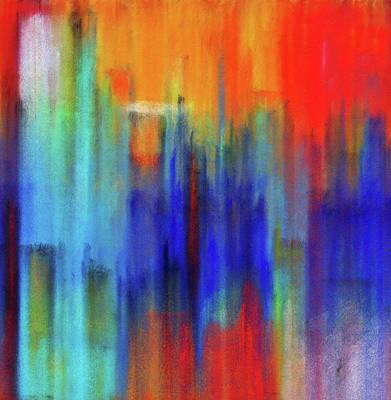 Painting - Abstract Art Fragments Of Doors by Georgiana Romanovna
