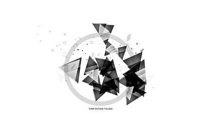 Circle Digital Art - Abstract Art Geometric Shapes No 2 by Melanie Viola