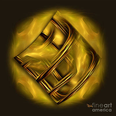 Digital Art - Abstract Art - Golden Dreams By Rgiada by Giada Rossi