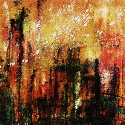 Painting - Abstract Art Idealism Of Sorrow by Georgiana Romanovna