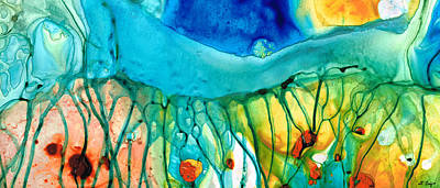 Drippy Painting - Abstract Art - Journey To Color - Sharon Cummings by Sharon Cummings