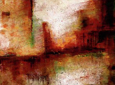 Painting - Abstract Art Landslide by Georgiana Romanovna