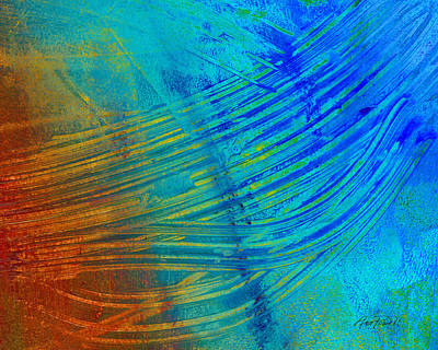 Abstract Art  Painting Freefall By Ann Powell Art Print by Ann Powell