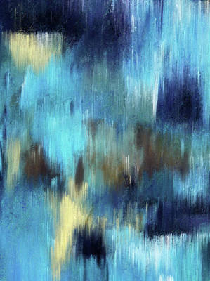 Mixed Media - Abstract Art Silence Of The Waterfall by Georgiana Romanovna