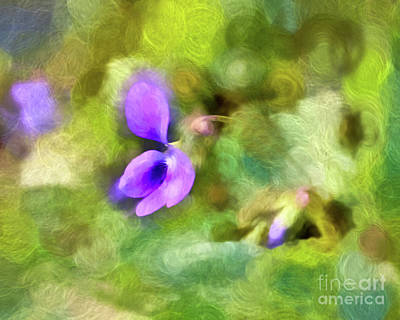 Photograph - Abstract Art - Spring Violet by Kerri Farley