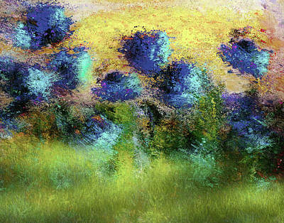 Painting - Abstract Art Summer Fields Of Sunlight by Georgiana Romanovna