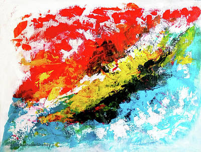 Painting - Abstract Art The Dying Oceans by Asha Sudhaker Shenoy