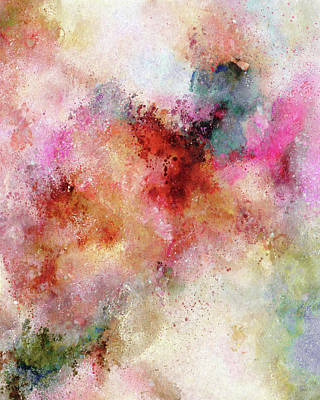 Painting - Abstract Art The Secrets Of The Heavens Above by Georgiana Romanovna