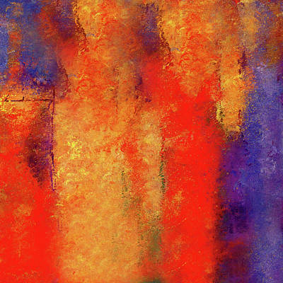 Painting - Abstract Art The Tremulous Fire by Georgiana Romanovna