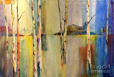 Painting - Abstract Aspen Blue by Eric Fetsch