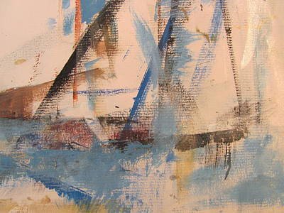 Painting - Abstract At Sea 1 by Anita Burgermeister